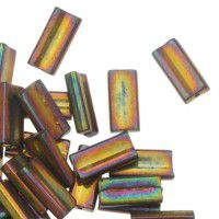 Miyuki Rectangle Beads, 4x7mm, Metallic Gold Violet - 462, Approx 17 Grams