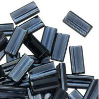 Miyuki Rectangle Beads, 4x7mm, Opaque Purple Dyed - 464, Approx 17 Grams
