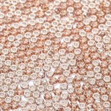 Miyuki Seed Beads 15/0 Unions - Crystal Czech with capri coating - Capri Gold - ...