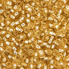 Lt. Gold Silver Lined Miyuki size 6/0 Colour  2, 20g approx.