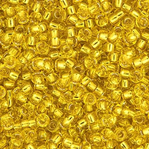 Yellow Silver Lined Miyuki 6/0 Seed Beads, 250g, Colour 0006