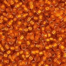 Orange Silver Lined Miyuki size 6/0 Colour  8, 20g
