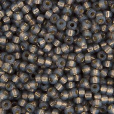 Dark Gray Silver Lined Dyed Alabaster Miyuki 6/0 Seed Beads, 250g, Colour 0650
