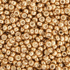 Gold Galvanized Miyuki size 6/0 Colour  1052, 20g approx.