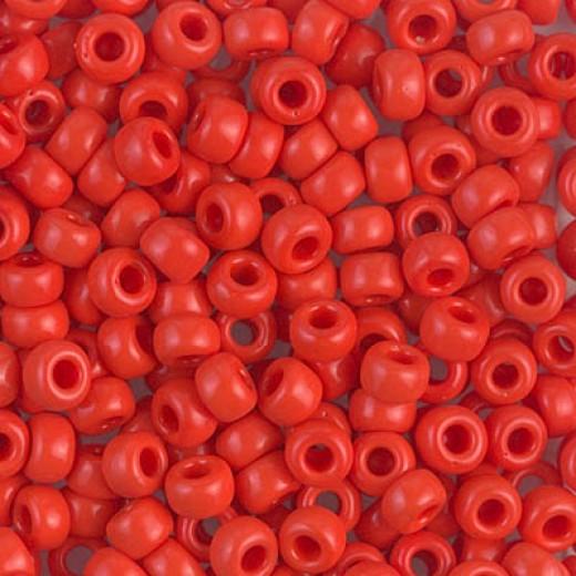 Red Vermilion Opaque Miyuki size 6/0 Colour  0407, 20g approx.