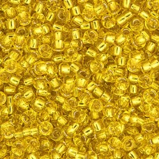 Yellow Silver Lined Miyuki 8/0 Seed Beads, 250g, Colour 0006