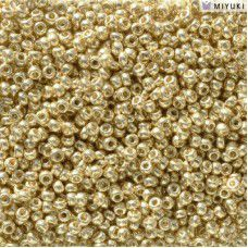 Duracoat Galvanised Pale Gold Miyuki 11/0 Seed Beads, Colour 5101, 22g approx.