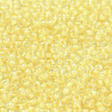 Cream Fancy Lined Size 11/0 Miyuki Seed beads, Colour 2215, 22g approx.