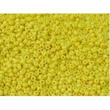 AB Matte Yellow Opaque Miyuki 11/0 Seed Beads, 22g, Colour 0404FR