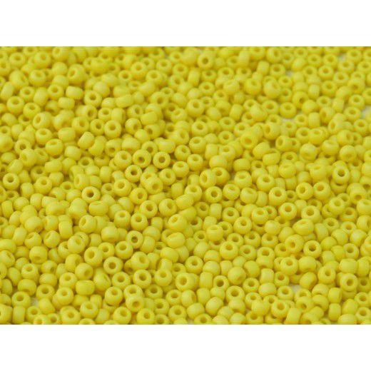 Bulk Bag AB Matte Yellow Opaque Miyuki 11/0 Seed Beads, 250g, Colour 0404FR