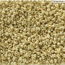 Duracoat Galvanised Yellow Gold Miyuki 11/0 Seed Beads, Colour 5102, 22g approx.