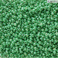 Duracoat Galvanised Dark Mint Miyuki 11/0 Seed Beads, Colour 5105, 22g approx.