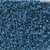 Duracoat Galvanised Deep Aqua Blue Miyuki 11/0 Seed Beads, Colour 5116, 22g approx.