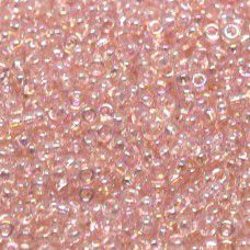 Miyuki Size 11 Seed Beads, Light Tea Rose AB, Colour 0292, 22g Approx.