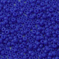 Miyuki Size 11 Seed Beads, Blue Opaque, Colour 0417, 22g Approx.
