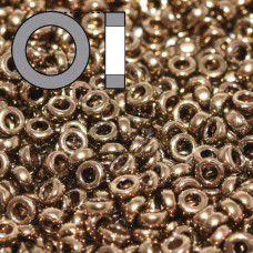 Metallic Dark Bronze Miyuki 2.2mm Spacer Beads, colour 0457, approx 9.5g