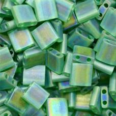 Bulk Bag Tila Beads Light Emerald Transparent AB Matte 50 Grams - 0146FR