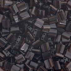 Chocolate Brown Transparent, colour 135 Miyuki Tila Bead, 50g bag