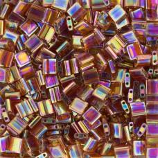 Tila Beads Dark Amber Transparent AB 5.2gm pack - 0257