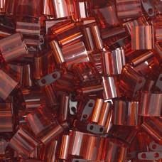Bulk Bag Dark Amber Transparent Colour 0134 Miyuki Tila Bead 50g bag