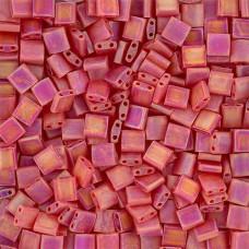 Tila Beads Red Transparent AB Matte 5.2gm pack - 0140FR
