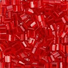 Tila Beads Red Transparent 5.2gm pack - 0140