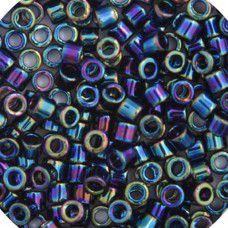 Black AB, Colour Code 0005, Size 11/0  Cut Delicas, 5.2g approx.