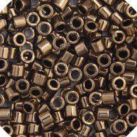 Bronze Metallic Size 15/0 Cut Delica, Colour code 0022, Approx. 5.2g