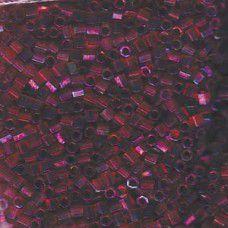 Transparent Raspberry AB Miyuki size 8/0 Hex Cut Delica, Colour Code 0104, appro...