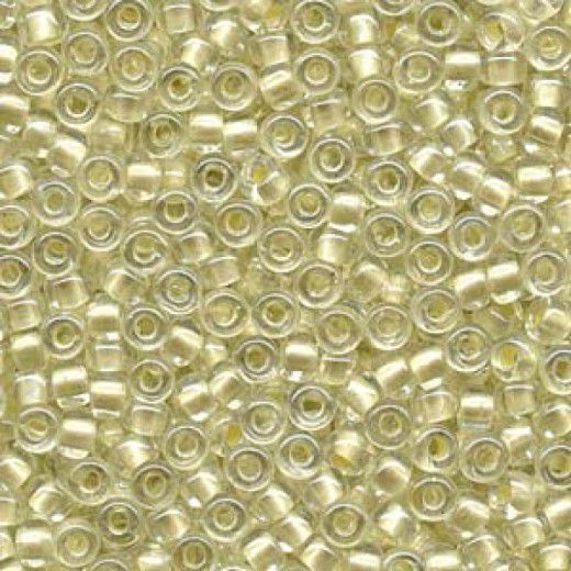 Pearlized Cream inside dyed Miyuki 6/0 Seed Beads, 20g approx. approx. colour 4603