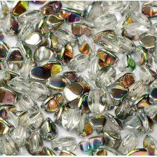Crystal Vitrial 5x3mm Pinch Beads, Approx 10gms