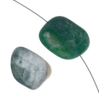 Botswana Agate Nugget, Green, Approximately 16 x 22mm