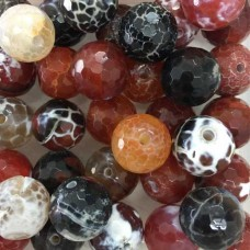 Semi Precious 12mm Crackle Beads, Mix of 4 Beads