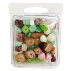 Mixed Dyed Agate Beads, 100gr Approx