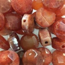 Faceted Orange Semi Precious Beads, 16mm