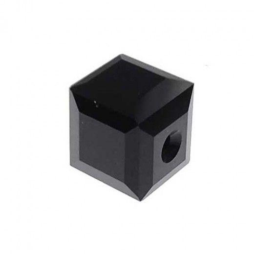 Swarovski 4mm Cubes, Black, Pack of 4