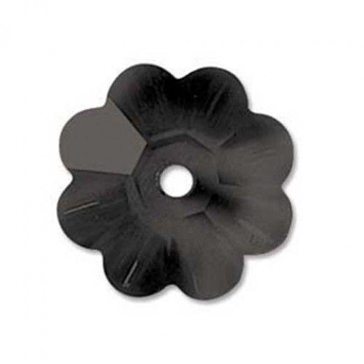 Swarovski 8mm Flowers, Jet, Pack of 6