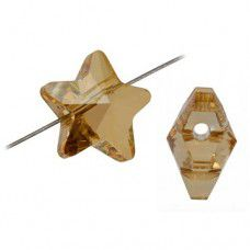 8mm Golden Shadow Swarovski Stars