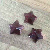 Garnet 12mm Stars, pack of 3