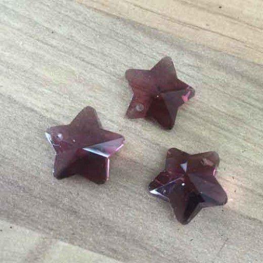 Garnet 12mm Stars, pack of 3