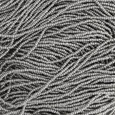 13/0 Charlottes, Metallic Grey Terra Dyed, approx.12g