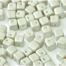 Pastel Grey 4mm Crisscross Cubes  in packs of 50