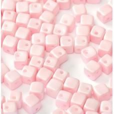 Pastel Rose 4mm Crisscross Cubes  in packs of 50