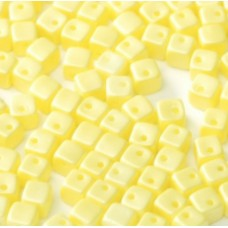 Pastel Yellow 4mm Crisscross Cubes in packs of 50