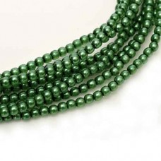New Grass Shiny 2mm Glass Pearls  Approx 150 Beads,