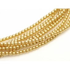 Gold ,Pack of 150 Beads,  3mm Glass Pearls