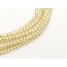 Old Lace 3mm Glass Pearls, Pack of 150