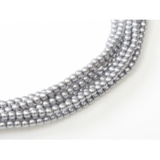 Silver / Grey Colour 3mm Glass Pearls, Pack of 150