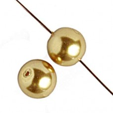 8mm Czech Glass Pearls in Gold  Colour, 27 Beads.