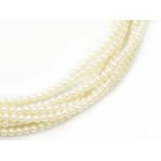 Light Cream 6mm Czech Glass Pearls, bag of 100pcs